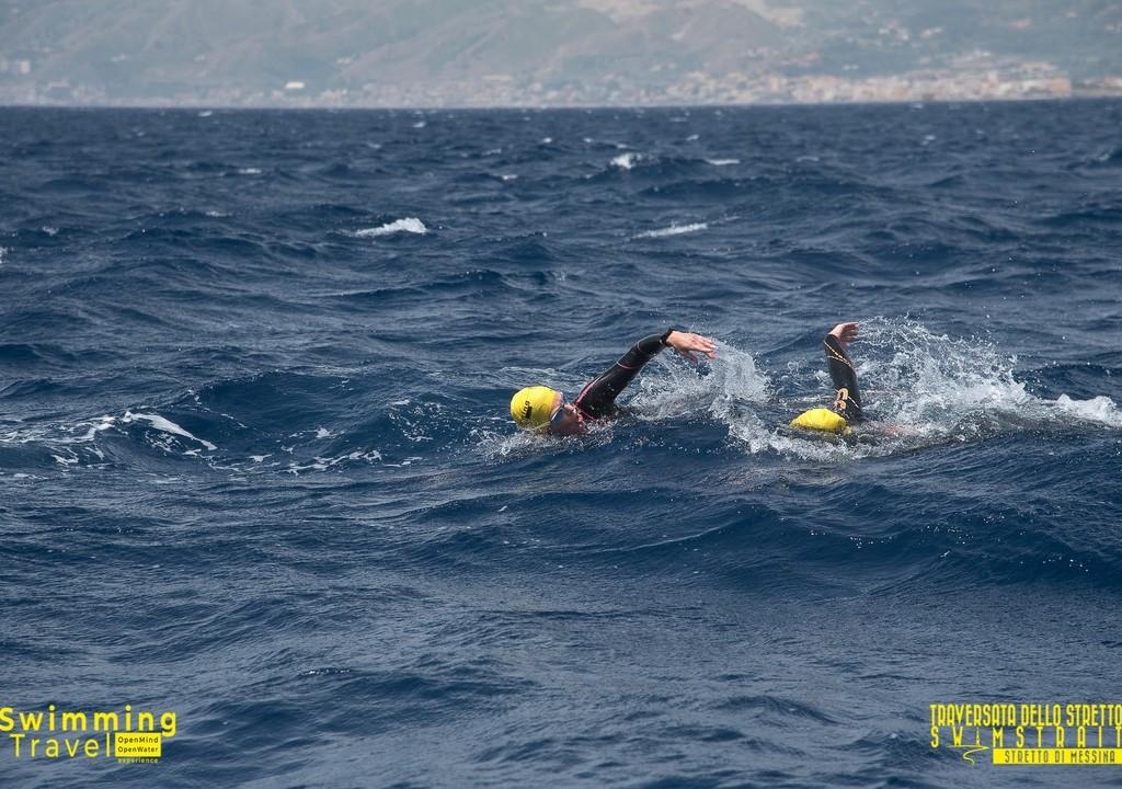 Attraversando Lo Stretto Di Messina. . Photo By Swimmingtravel